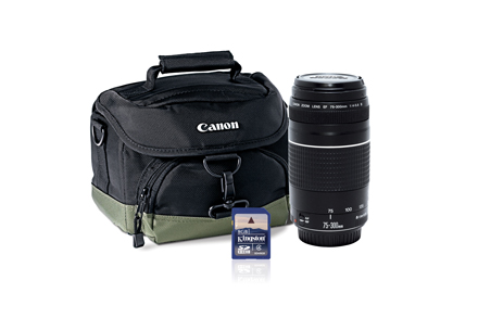 Kit EF 75-300mm f/4-5.6 III + Bolso 100EG + SD Card