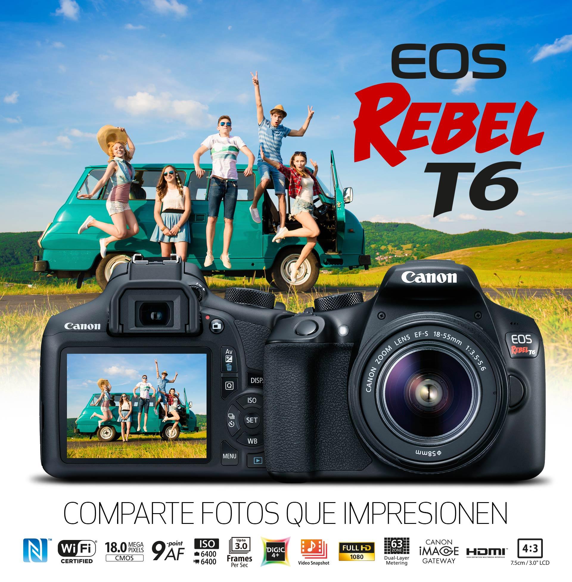 EOS REBEL T6: COMPARTE FOTOS QUE IMPRESIONEN