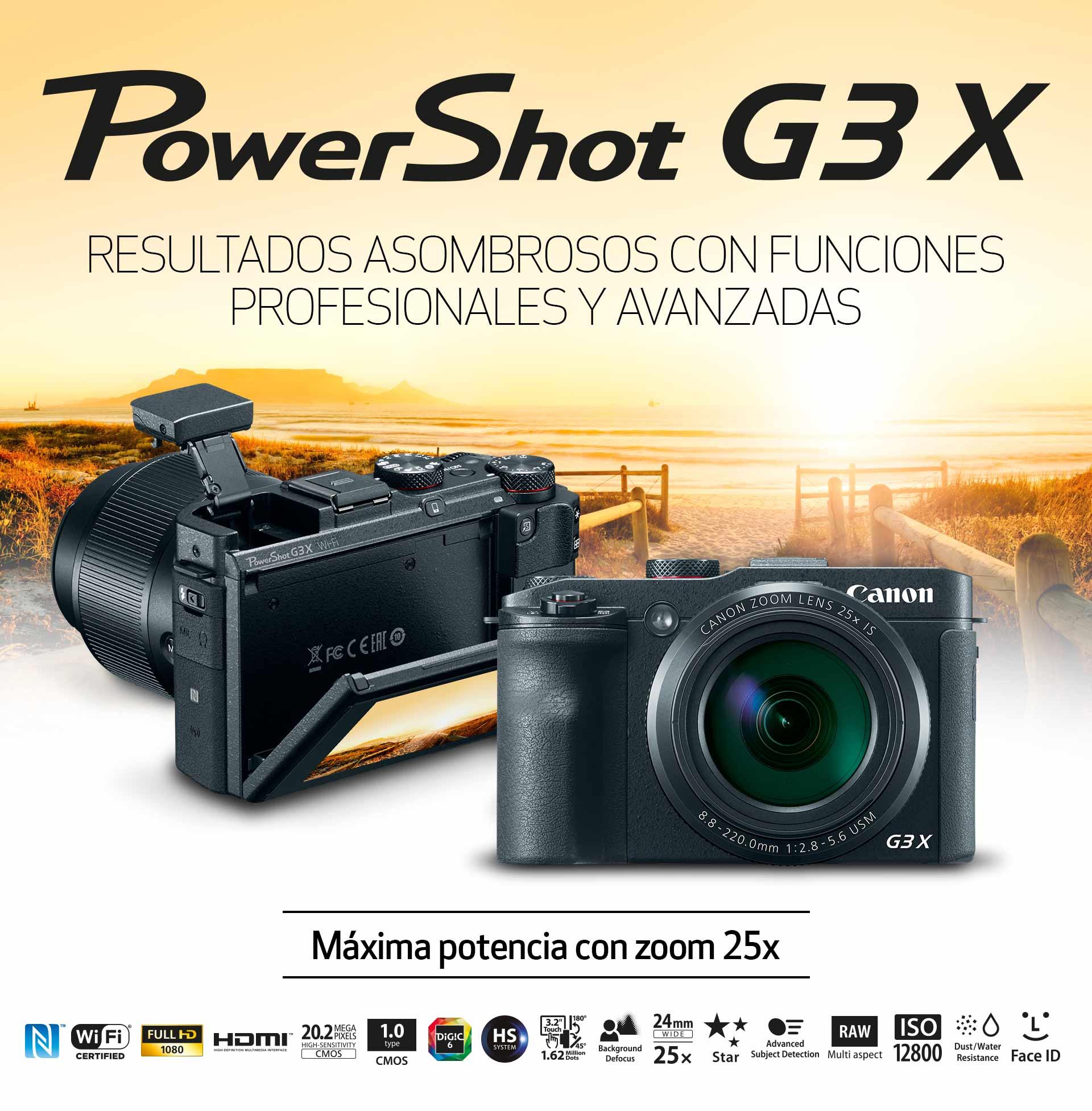 Powershot G3 X Canon Tienda Online Chile Wi Fi And Nfc G3x Resultados Asombrosos Con Funciones Profesionales Y Avanzadas